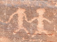 pictograph, Valley of Fire, , Phoenix, AR, Nevada, 4000+ years old © Marc d'Entremont