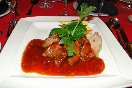 Marinated Warthog with White Wine BBQ Sauce at Victoria Falls Safari Lodge