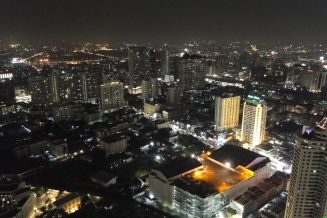Bangkok from the Sky Bar on the 57th floor of the Centara Grand Hotel