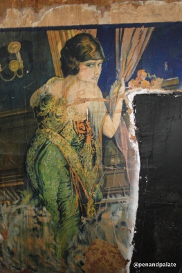 backstage at Dell Rapid's Grand opera House – part of an early 20th century poster.