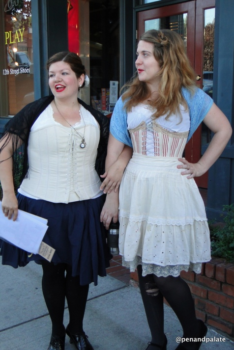 Girl Marisa McGrath & Sara Holodnick, the Good Time Girls Walking Tours, Fairhaven, WA
