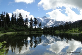 Mt. Shuksan from Picture Lake, North Cascades National Park, in Whatcom County, WA