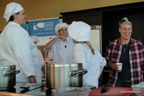 Chef Michelle Ragussis w/students from Washington County Community College