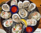 raw oysters plain & with crab, The Compleat Angler, Orange Beach, Al