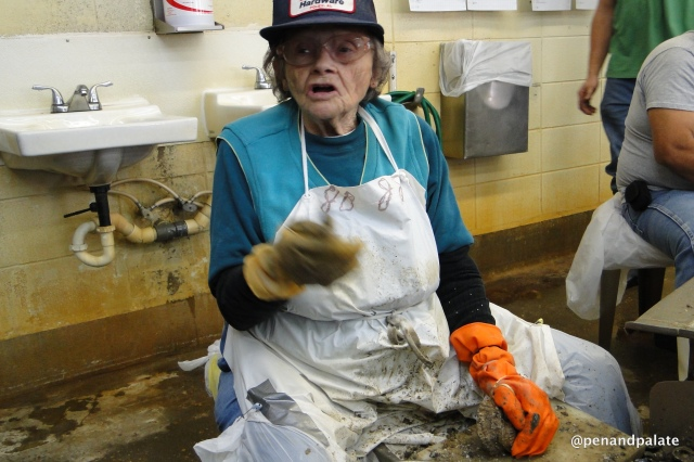 Velma Fell, 42 year employee of Bon Secour Fisheries, Bon Secour, Al