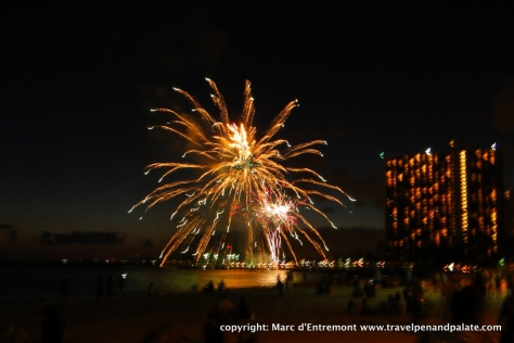 weekly Friday evening fireworks at the Hilton Hawaiian Village, Waikiki