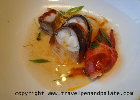 Keahole lobster with kurobuta pork belly