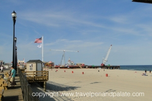 Repairs being made to Seaside Heights boardwalk on September 9, 2013