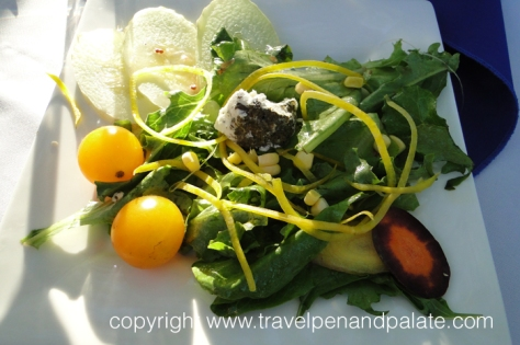Salad of baby vegetables & foraged greens – Zee Catering at Sawtooth Winery