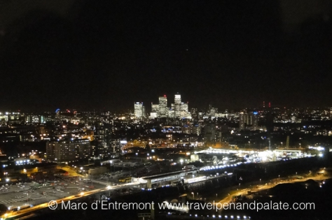 London from the observation deck of the ArcelorMittal Orbit, London, UK