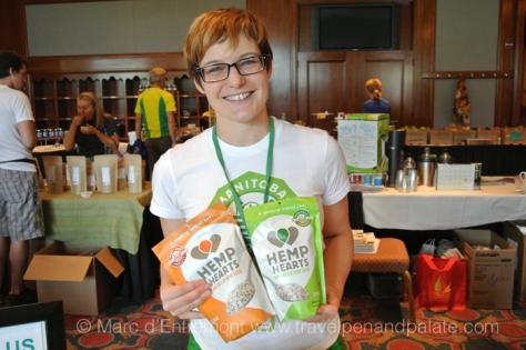 Kelley of Manitoba Harvest's Hemp Hearts – raw shelled hemp seeds