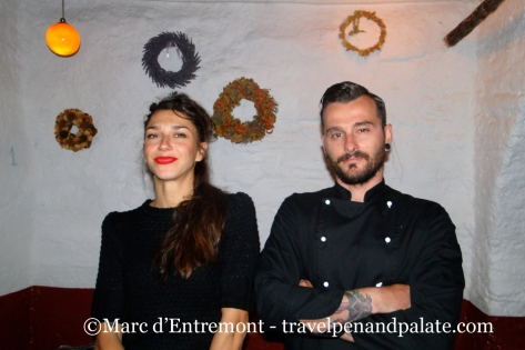 Theodora Tziamali & Chef George Katseas partners: Katogi Cafe