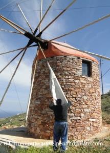 Ionnis Trinas & his windmill, Sifnos island