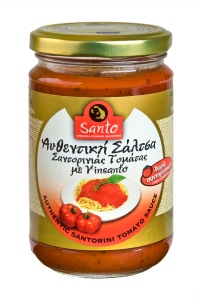 Santorini TOMATO SAUCE WITH VINSANTO wine: Santo Winery