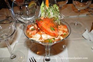 Lobster, crab & avocado cocktail