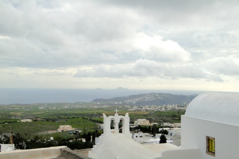 Santorini vista from Pyrgos