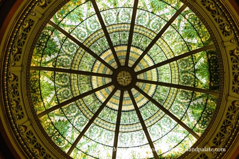 Stained glass dome of the Pennsylvania Supreme Court Chambers, Capitol Building