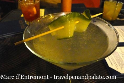Buddha Buddha's cucumber martini