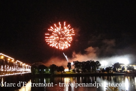Fireworks over the Susquehanna River from City Island