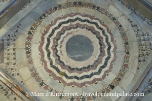mosaic floor at the excavations Monastery of Zygos