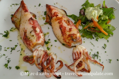Grilled squid at Asterias