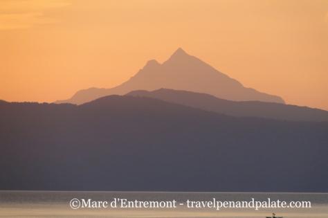 Mt. Athos at dawn