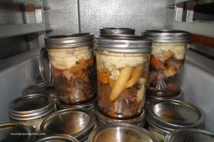 beef pot roast beef pot roast served in a mason jar.