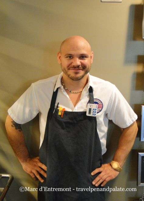 Chef Christian DeLutis at Troegs Brewery