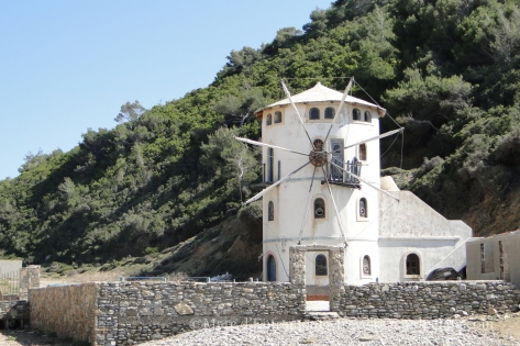 Tsoukali beach windmill