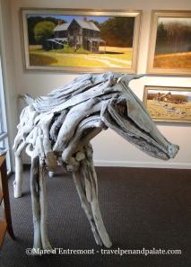 Larry Ringgold,  driftwood horse sculpture,  Peninsula Gallery