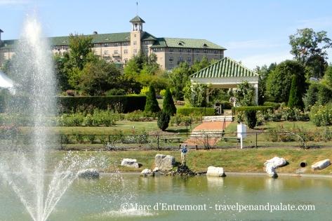 Hershey Hotel from Hershey Gardens, Hershey, PA