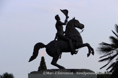Clark Mills equestrian statue (1856) of General Andrew Jackson, Jackson Square, New Orleans