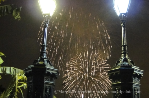 Fireworks at Jackson Square, New Orleans