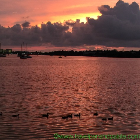 Sunset over Boca de Ciega Bay, St. Petersburg, FL