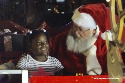 Talking to Santa at North Straub Park, St. Petersburg, FL