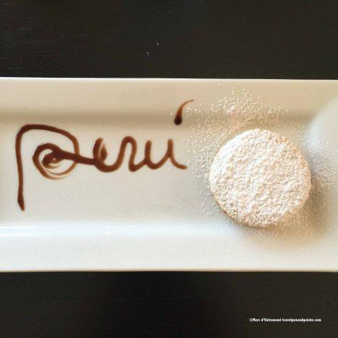 Alfajores with dulce de leche at Mr. Cebiche Peruvian restaurant, Mount Dora, FL
