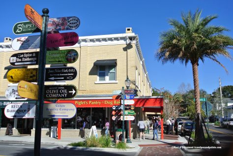 Historic downtown Mount Dora, FL