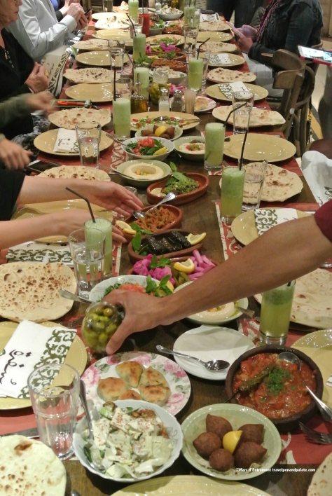 """a mezze """"buffet"""" at Sufra Restaurant, Amman, Jordan"""