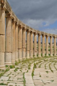 part of the Oval Colonnade, Jerash, Jordan