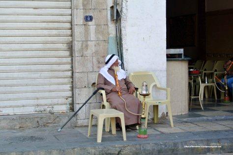 enjoying a hooka, Aqaba, Jordan