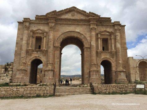 Triumphal Arch of Hadrian, Jerash, Jordan
