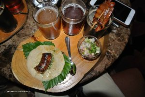 Beer & tapas tasting on designated cedar plates