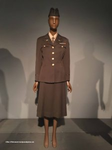 WW II W.A.C. uniform designed by a committee.