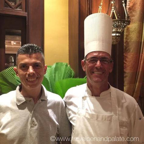 (left) Marco Montoya, GM, (right) Executive Chef Francis Canal Bardot