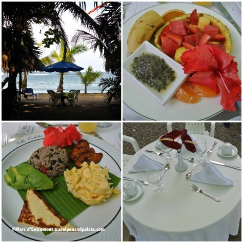 breakfast at El Pelicano Snack Bar on the Beach, Villa Caletas