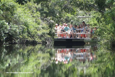 Barge from visitor's center to animal park at Homosassa Springs Wildlife State Park
