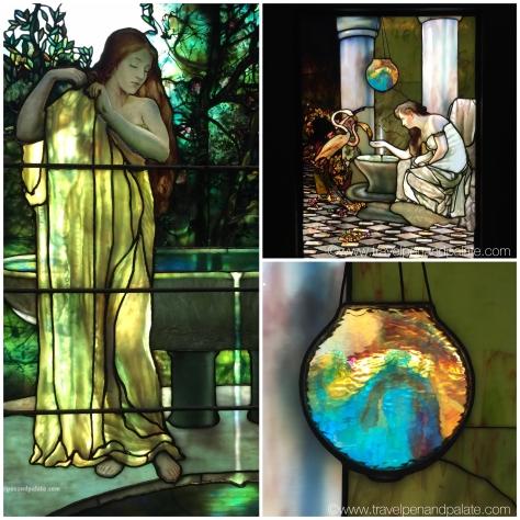 The iridescence of Tiffany glass