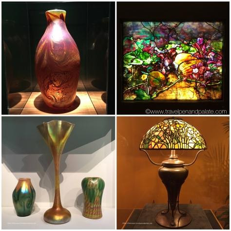 Louis Comfort Tiffany glass & lamp, Morse Museum
