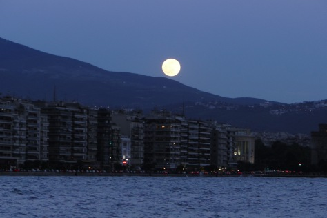 Moon over Thessaloniki