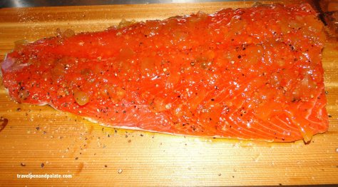 salmon ready for the grill